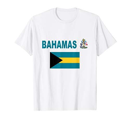 Flag Bahamas T-Shirt Cool Coat Arms Bahamian Flags Gift Tee