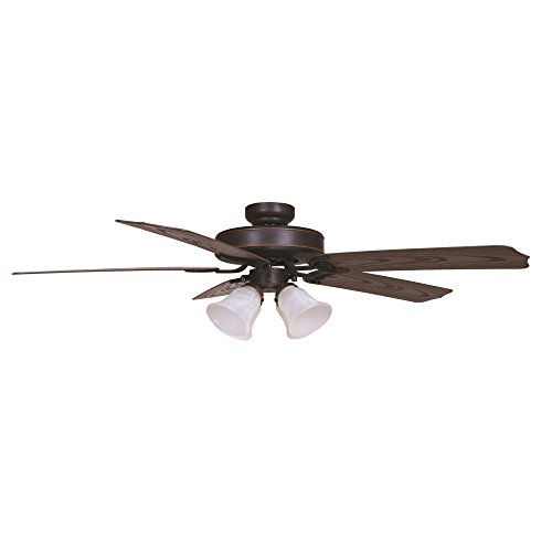 Yosemite Home Decor PATTERSON2-ORB-4 52-Inch Ceiling Fan in Oil rubbed Bronze Finish with 4 Light outdoor, Oil Rubbed Bronze