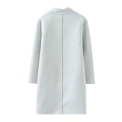 Femme Huashi Manteau Manteau Huashi Huashi Manteau Femme Blanc Femme Blanc Blanc z0wqFA