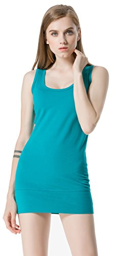 (Moxeay Womens Extra Long Stretch Cotton Tank Top (Small,)