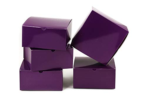 - Tytroy Purple Paper Gift Boxes with Lids Tuck Top Craft Box Bakery Box (10 pc)