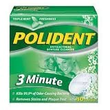 Polident 3 Minute Denture Cleanser Tablets, 40 ea