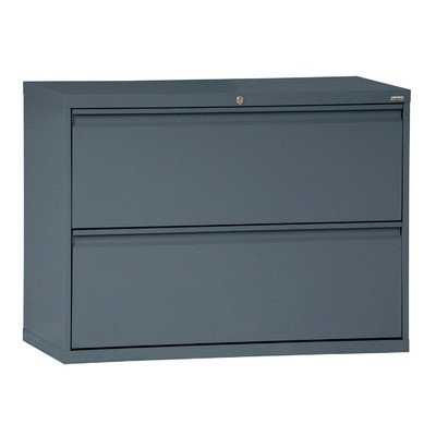 Sandusky Lee LF8F362-02 800 Series 2 Drawer Lateral File Cabinet, 19.25