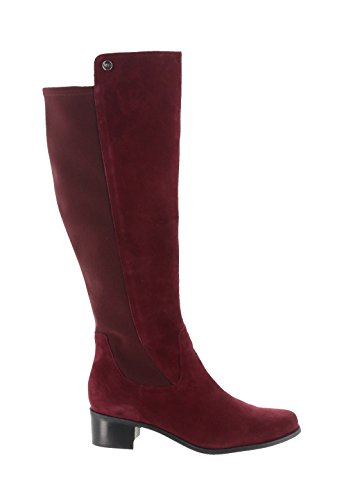 - Marc Fisher Wide Calf Leather Tall Shaft Boots A295887, Burgundy, 6.5M