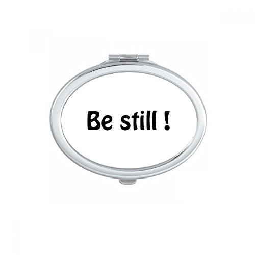 DIYthinker Be Still Text Christian Quotes Oval Compact Makeup Mirror Portable Cute Hand Pocket Mirrors Gift by DIYthinker