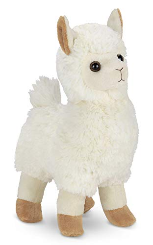 Bearington Alma Plush Stuffed Animal Llama, 10 inches -
