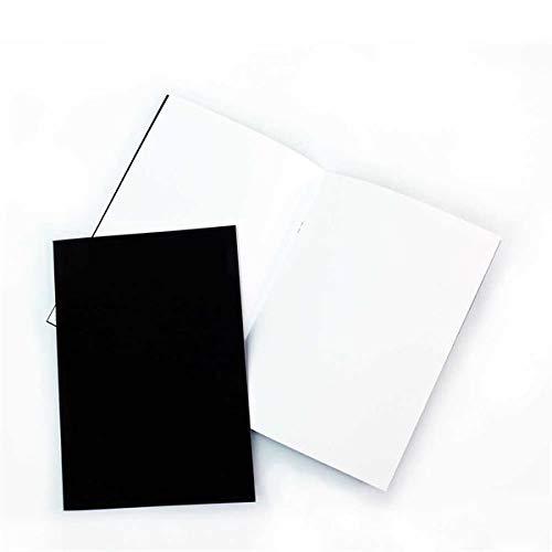 Pack of 3x A5 Matt Black Cover Starter Sketchbooks, 140gsm White Cartridge Paper - A5 - 5.8 x 8.3