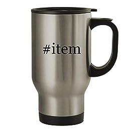 #item – 14oz Stainless Steel Travel Mug, Silver