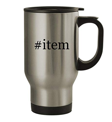 #item - 14oz Stainless Steel Travel Mug, Silver |