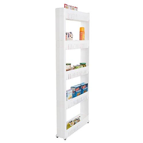 Mobile Shelving Unit Organizer With 5 Large Storage