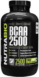 NutraBio BCAA 2500 - 500 Vegetable Capsules (Branched Chain Amino Acids)