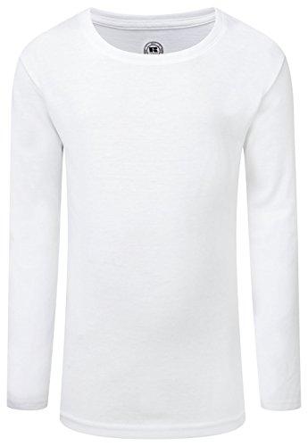 - Russell Childrens/Girls Long Sleeve HD T-Shirt (11-12 Years) (White)