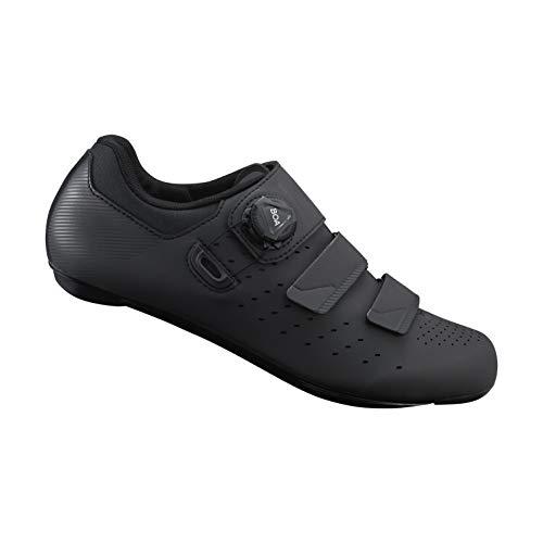 (SHIMANO SH-RP400 High-Performance Road Endurance Cycling Bicycle Shoes, Black, 45)