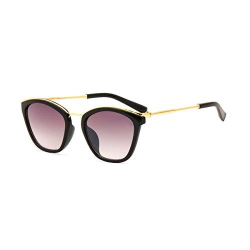 Royal Son UV Protected Square Women Sunglasses (WHAT3585|53|Black Lens)