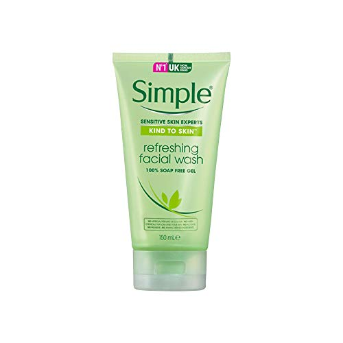 Simple Kind to Skin Refreshing Facial Wash Gel ,150 ml (5 Ounce)