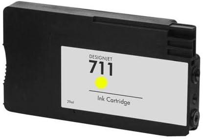 RudyTwos - Cartucho de tinta compatible con Designjet T120 y T520 para HP 711, color amarillo: Amazon.es: Informática