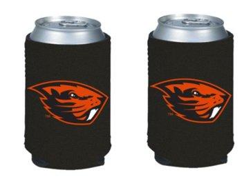 Oregon State Cooler Beavers - NCAA Oregon State University Beavers Logo Color Can Kaddy Holder Cooler 2-Pack