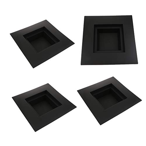 - B Blesiya 4Pcs ~Square_L Japanese Suiban Vase Tray Container for Ikebana Flower Arrangements~Different Shape