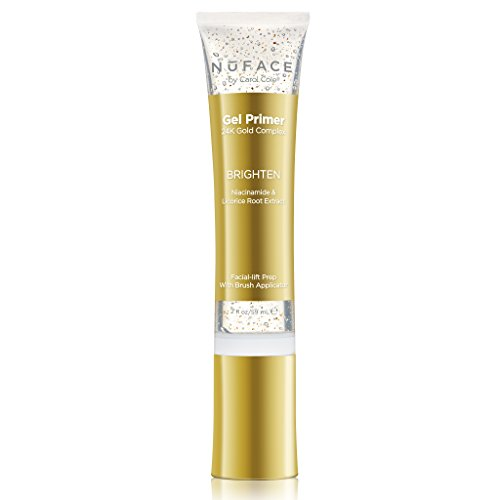 NuFACE 24K Gold Brighten Gel Primer | Fragrance-Free | Lightweight Application | Excellent for Diminishing Dark Spots | 2 fl. oz.