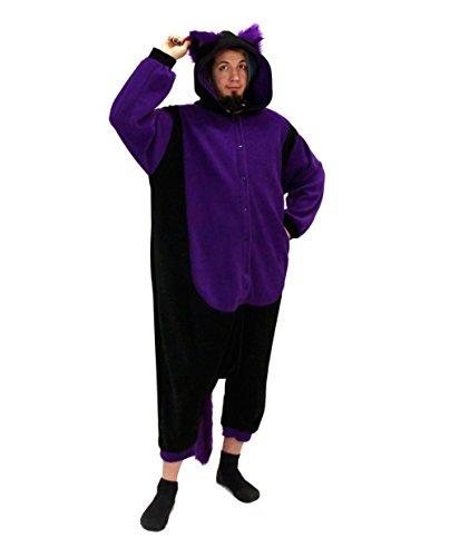 Pawstar Kitty Cat Mew Kigurumi Eared Kigu Adult Pajamas - One Size Purple (Kitty Onesies For Adults)