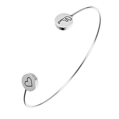 State Bangle Bracelet Maryland MD - Open Wire Cuff Stainless ()