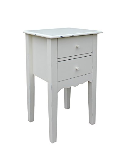 eHemco Side or End Table with Drawers by eHemco