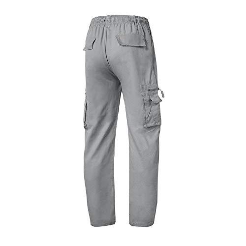 Trabajo Chino Cordones con Hombre Hombre Logobeing Hombres Algodon Chandal Pantalon Pantalones para Chándal Deportivo Monta Jogging Gris de Correr Deporte FUqUwY4I