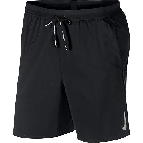 Nike Men's Flex 7IN Running Shorts Black/Reflective SILV - Reflective 7 Inch Fit Dri Short