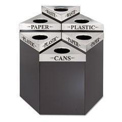 Trifecta Lid Receptacle Waste - SAF9560PC - Steel - Safco Trifecta Waste Receptacle Lid - Each