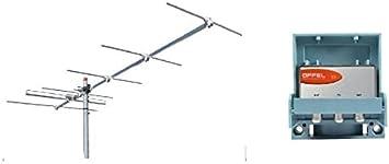 Kit de instalación adaptación digital terrestre de antena VHF 6 ...