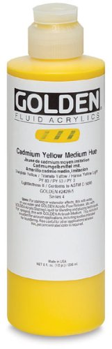 Golden Fluid Acrylics - Primary Cyan - 8 oz Bottle
