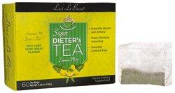 Lemon Mint variety of Laci Le Beau Laci Super Dieter's Tea, 60 Count Tea Bags (Net Wt. 5.26 oz) Laci Le Beau Super Dieters Tea