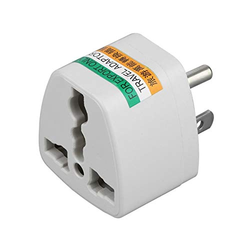 Elviray Universal Travel AU UK EU to US AC Power Plug Power Adapter Converter Outlet Home Travel Wall Plug 3 Pin