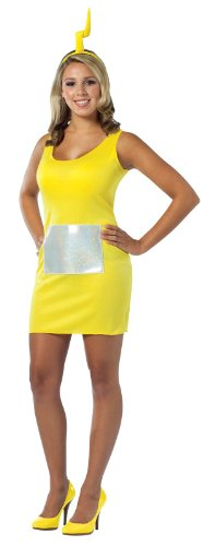 [Rasta Imposta Teletubbies Laa-laa Tank Dress, Yellow, Adult 4-10] (Yellow Tank Dress Costumes)