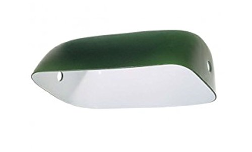 B&P Lampgreen Glass Lamp Shade Replacement Bankers Lamp or Pharmacy Shade (Replacement Bankers Shade Lamp)