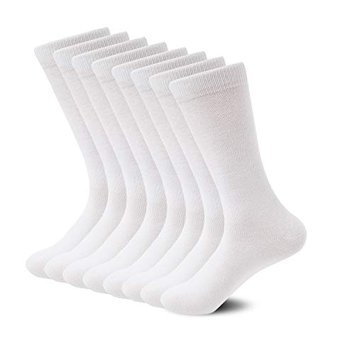 - Sock Amazing Premium Bamboo Socks White Crew Socks for Men Women 8 Pack Business Dress Socks Casual Socks