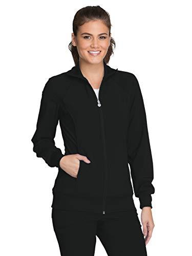 Black Warm Up - Cherokee Infinity 2391A Zip Front Warm-Up Jacket Black 3XL