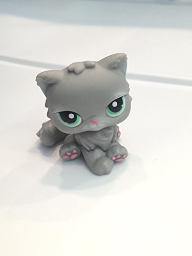 Littlest Pet Shop Persian Long Hair Pink Cat with Green Eyes, Loose Replacement Figure Out of Package and Production