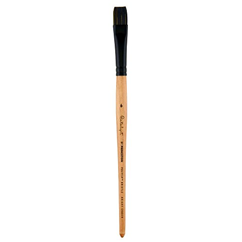 Princeton Catalyst Polytip, Brushes for Acrylic and Oil, Series 6450 Short Handle, Bright Shader, Size 6
