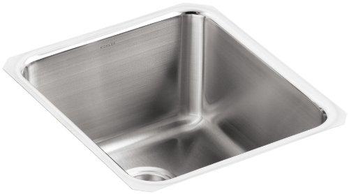 KOHLER K-3330-NA Undertone Medium Squared Undercounter Kitchen Sink, Stainless Steel ()