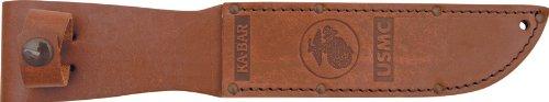 Ka-Bar USMC Brown Leather Sheath For KB1217 - KB1217S