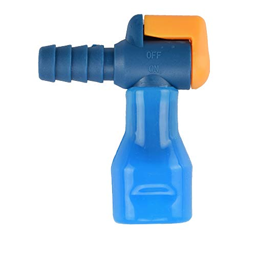AXEN ON-OFF Switch Bite Valve Tube Nozzle Replacement For Hydration Pack Bladder (Blue-90 degree)