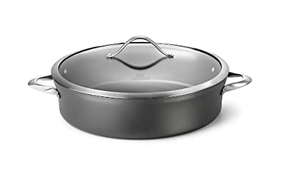 Calphalon Contemporary Nonstick Dishwasher Safe Sauteuse Sauce Pan, 7-Quart
