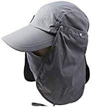 3CERA Outdoor Jungle Fishing 360 Degree UV Protection Sun Block Hat Folding Visor Nylon Cap Mesh Bucket Flap H