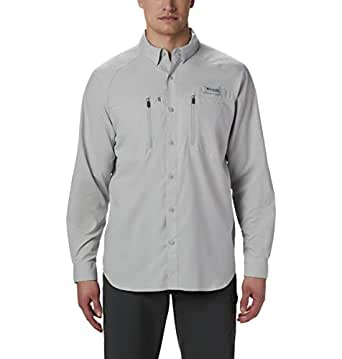 Columbia Men's Standard Terminal Tackle LS Woven, Cool Grey, Small