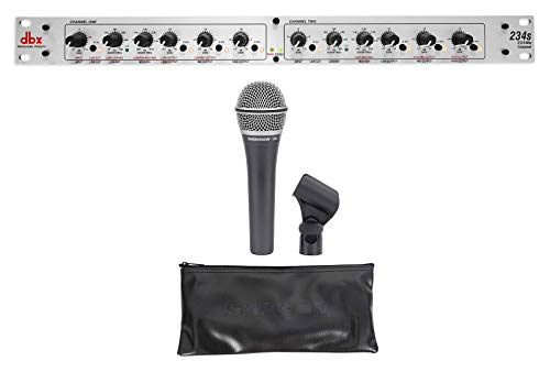 (DBX 234S Stereo 2/3 Way/Mono 4-Way Crossover+Samson Microphone+Mic Clip)