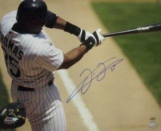 Frank Thomas Signed Picture - Color 16x20 Batting Horizontal Hall of Fame 2014) - Autographed MLB Photos ()