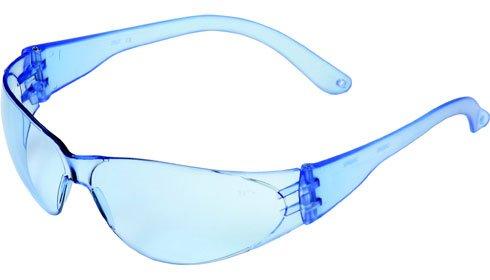 Crews Checklite Safety Glasses - Light Blue Lens/Light Blue