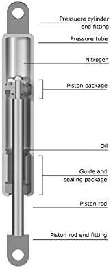 2 Pi/èces Lift Automatic Ressorts Compression Gaz De Force 250 N Avec 4 Clips by DELIAWINTERFEL