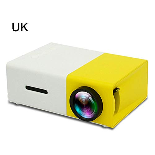 domiluoyoyo YG300 Mini Pocket Projector, 1080P Built-in Battery Version LCD Portable 600 Lumens Home LED Media Player